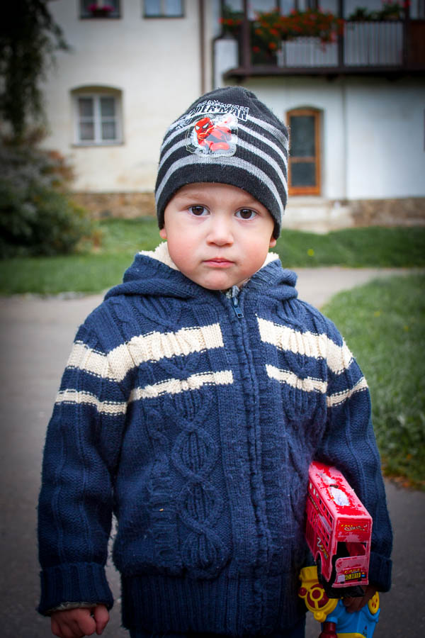 A young boy in Prachatice, Czechia