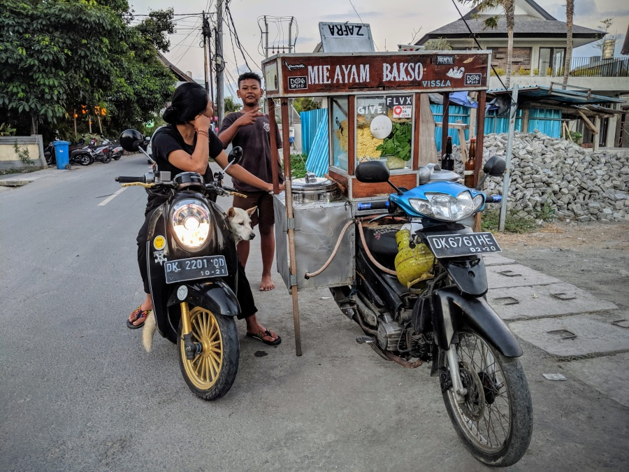 Indonesian Street Food Scooter Cart