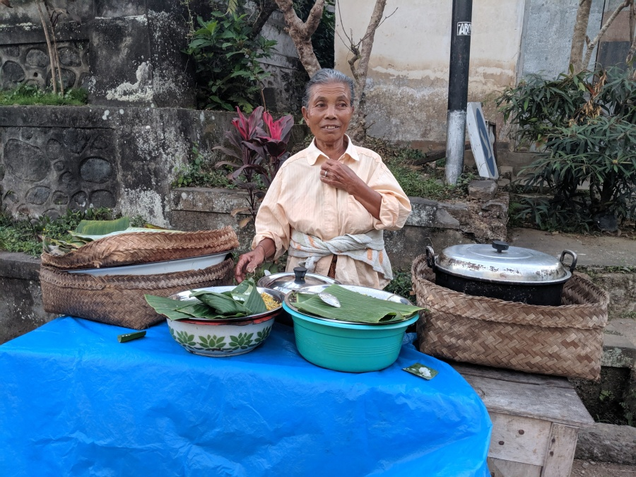 Indonesian Street Food Vendor