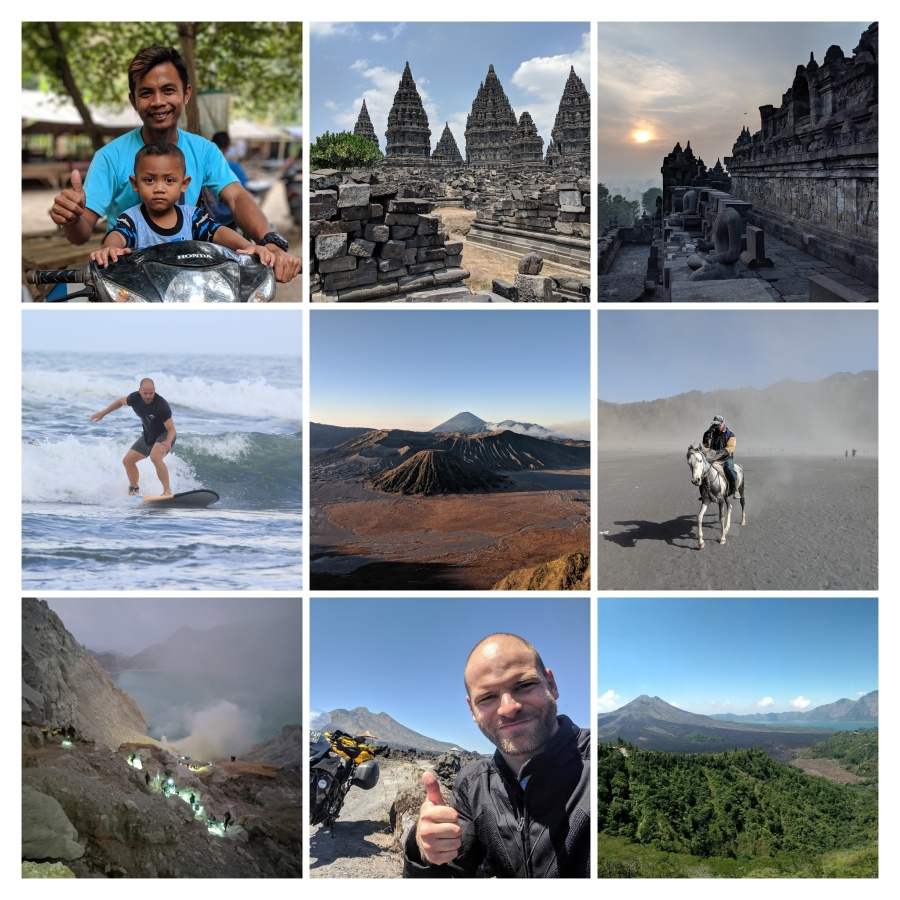 A collage of photos from Indonesia