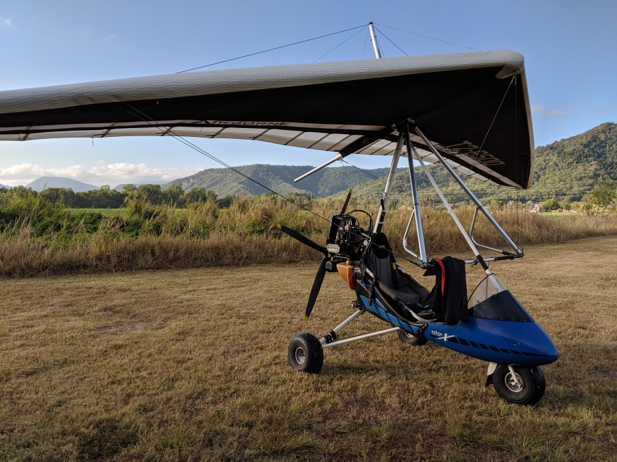 Microlight aircraft near Port Douglas