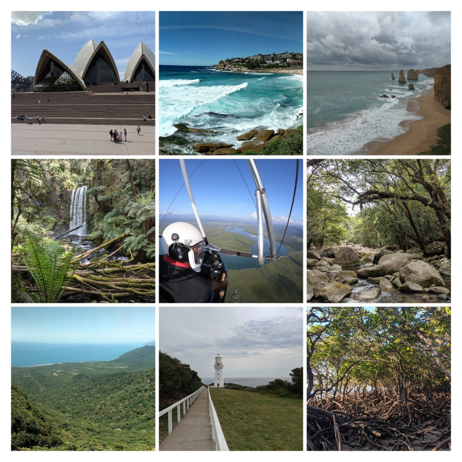 Collage of photos from Australia