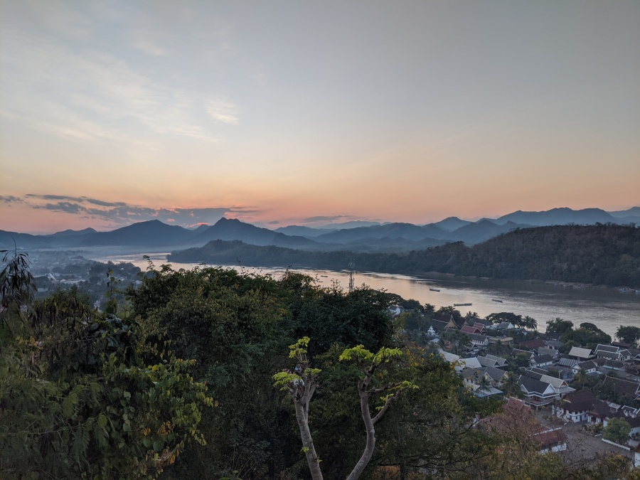 Sunset over Luang Prabang, as seen from Phousi Hill