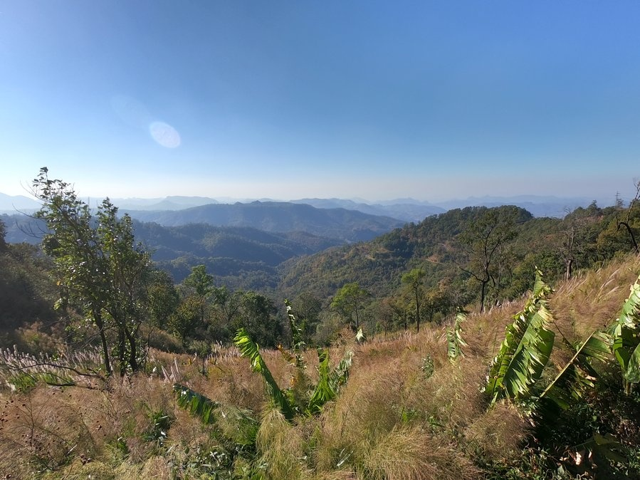 View From a Saddle Between Mae Hong Son and Pai