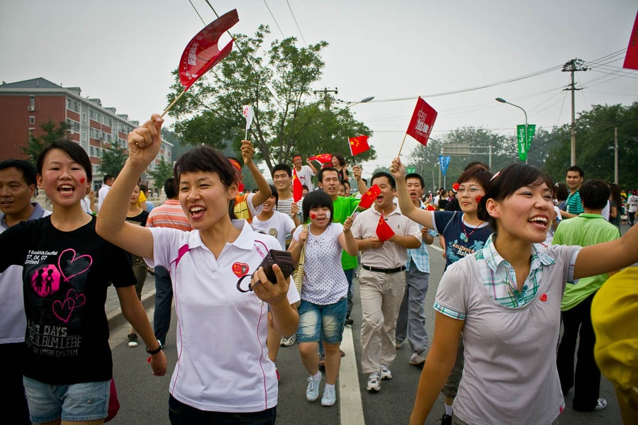 Festivities during the olympic torch relay