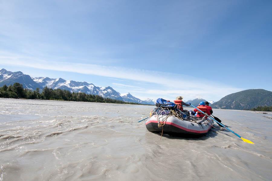 Rafting on the Tatshenshini River