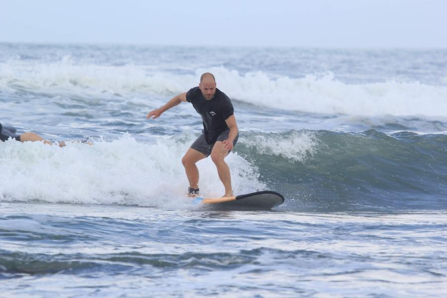 Krystof surfing in Bali