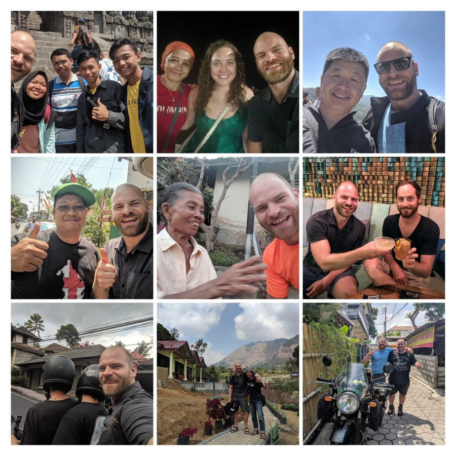 Collage of selfies from Indonesia