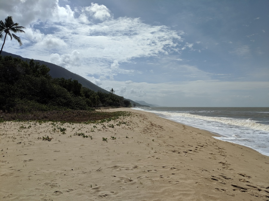 Beach along Captain Cook Highway north of Cairns