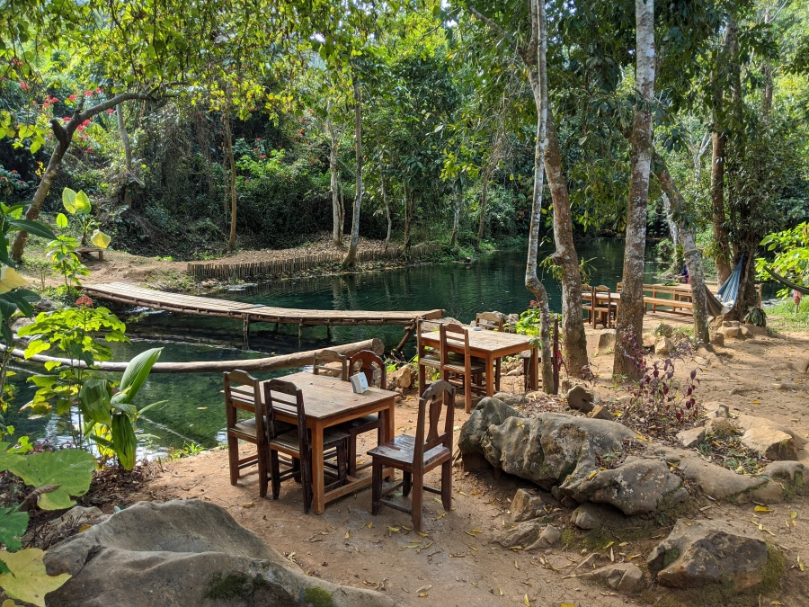 The restaurant and spring near Kuang Si waterfall