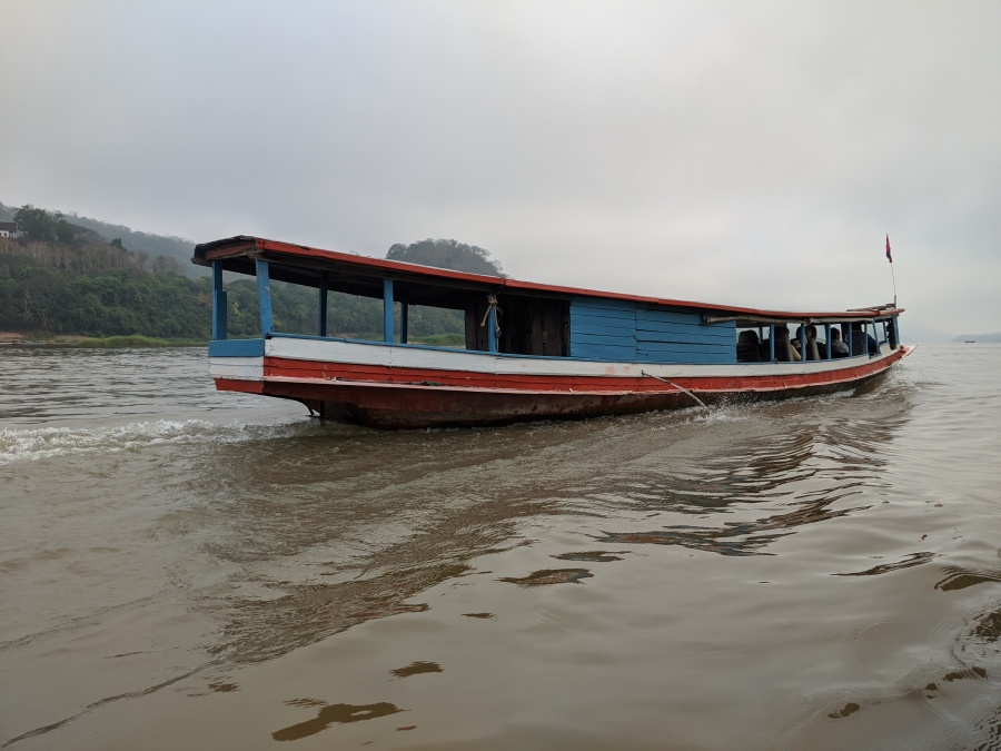 A boat on the Mekong River