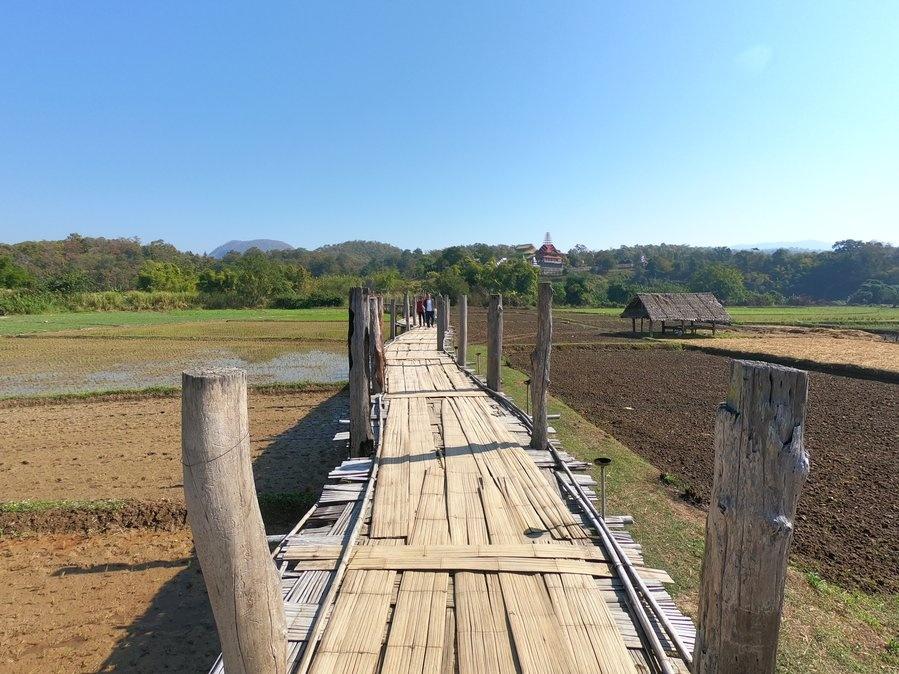 Su Tong Pae Bridge just north of Mae Hong Son