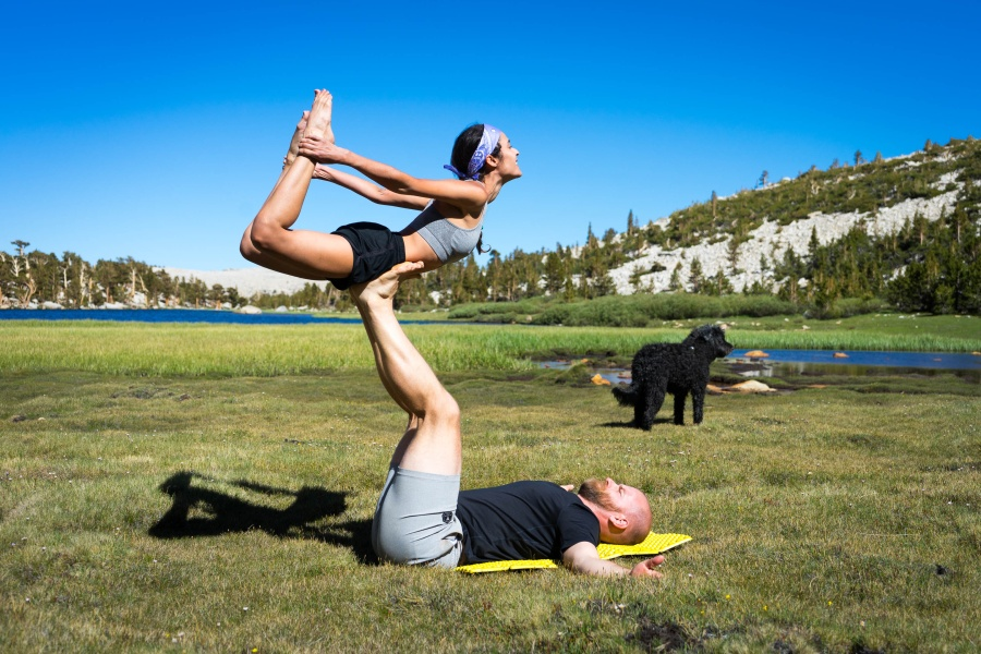 Acro Yoga at Long Lake