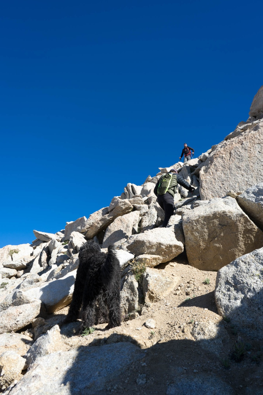 Crossing the Boulder Field on Mt. Langley